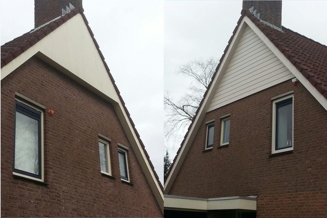 Volledige buitenzijde van de eerste verdieping gerenoveerd te Houten!
