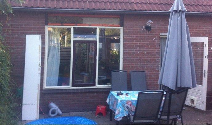 Vierdelige Knipping hefschuifpui gemonteerd te Utrecht!